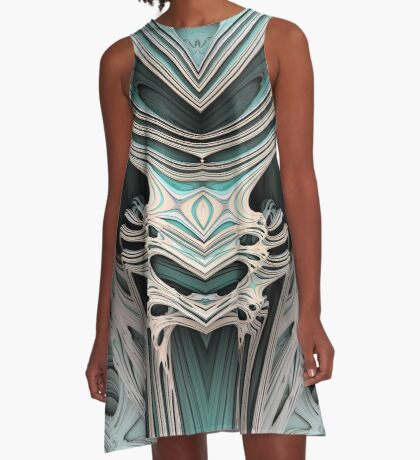 Cosmic creature #Fractal B A-Line Dress