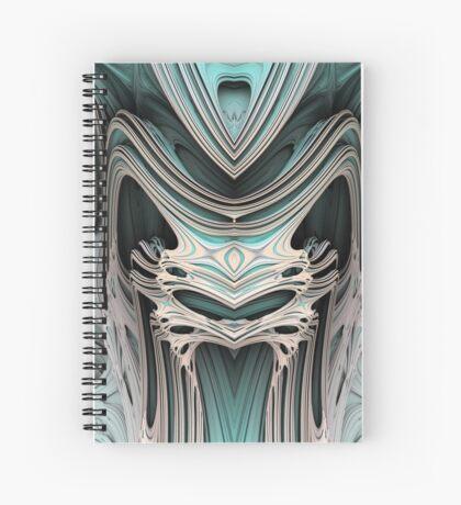Cosmic creature #Fractal B Spiral Notebook