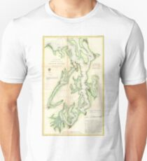 Vintage Map of The Puget Sound (1867) Unisex T-Shirt