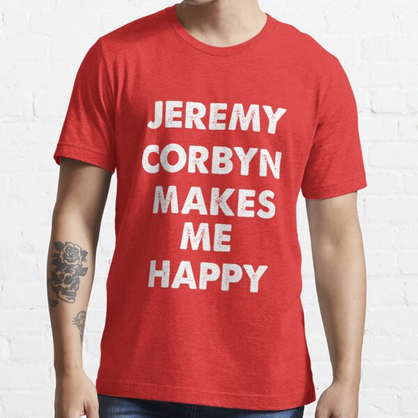 Jeremy Corbyn Makes me Happy Essential T-Shirt