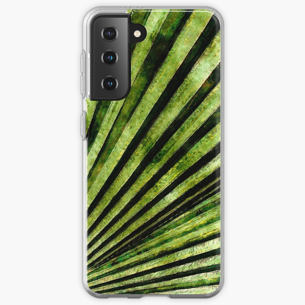 Green Palm Tree Frond Case & Skin for Samsung Galaxy