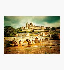 Beziers, Languedoc in southern France founded 575BCE Photographic Print