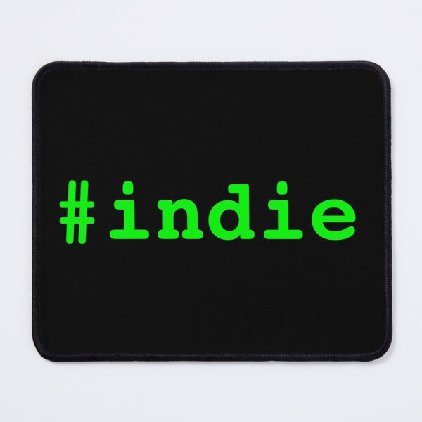 Hashtag Indie - Green Mouse Pad