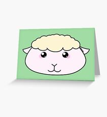 Cute little lamb - Farm animals collection Greeting Card