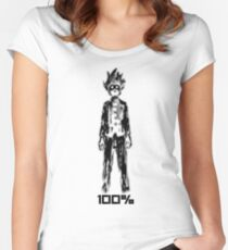 Mob 100% Women's Fitted Scoop T-Shirt