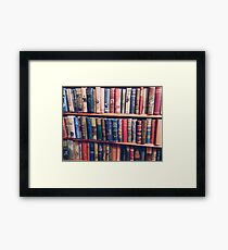 Lost In The Library Framed Print