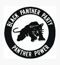 Black Panther Party - panther power Photographic Print