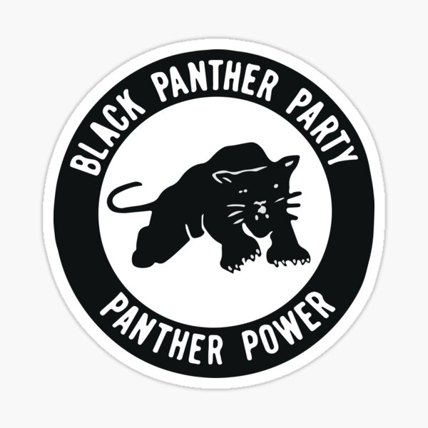 Black Panther Party - panther power Sticker