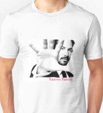 Keanu Reeves (Black and White Attitude)  T-Shirt