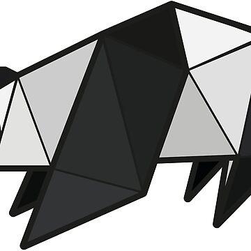 Origami Panda by StevePaulMyers