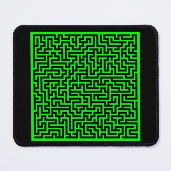 Maze 30x30 Green Mouse Pad