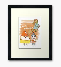 Happy Halloween, Candycorn Framed Print