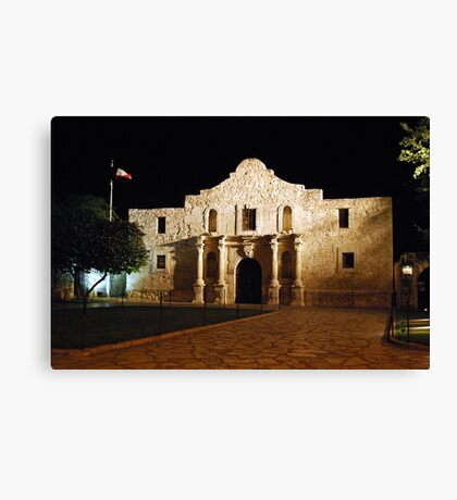 The Alamo at Night Canvas Print