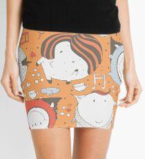 Orange monsters Mini Skirt
