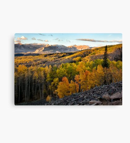 View from Ohio Pass road Canvas Print