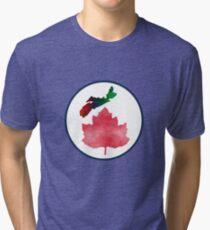 I Love Nova Scotia Canada Tri-blend T-Shirt