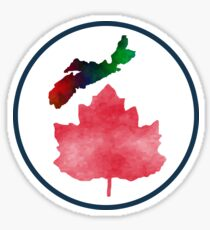 I Love Nova Scotia Canada Sticker