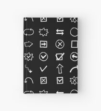 Shapes, Arrows and other.Hand drawn. Hardcover Journal