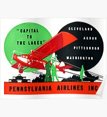 1930 Pennsylvania Airlines Poster