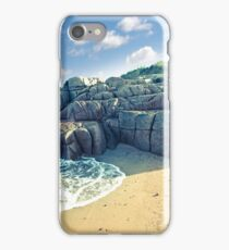 rock formation on a coastal beach in county Donegal iPhone Case/Skin