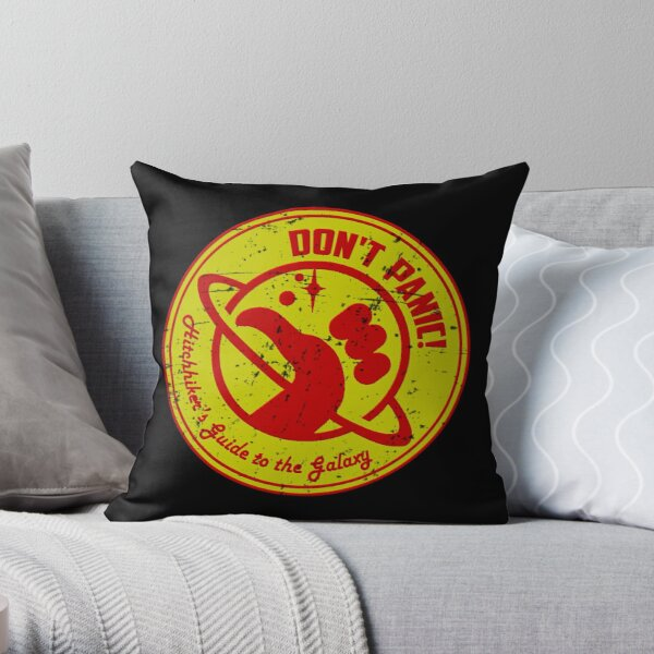 Hitchhiker's Bedding  Throw Pillow