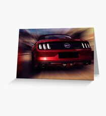 ford mustang gt Greeting Card