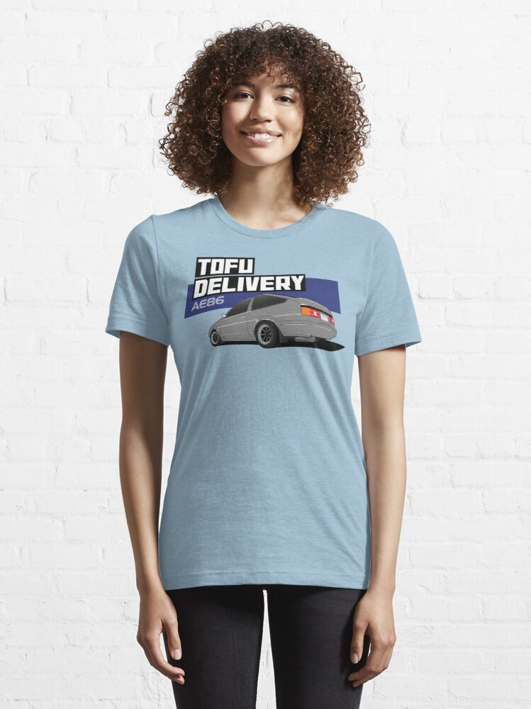 Alternate view of Initial D Tofu Delivery - AE86 Essential T-Shirt