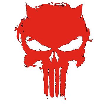 Red Painted Skull by Lukeee4