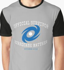 Official Survivor Hurricane Matthew Graphic T-Shirt