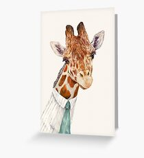 Male Giraffe Greeting Card