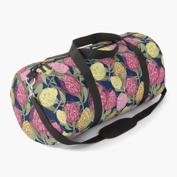 Vintage inspired Pinwheel Proteas pattern Duffle Bag