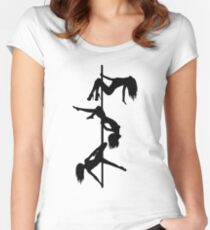 Pole Dancing Women's Fitted Scoop T-Shirt