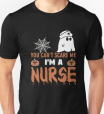 Halloween T-shirt You Can't Scare Me I'm a NURSE T-Shirt