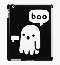 A ghost saying boo iPad Case/Skin