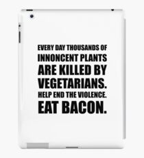 Vegetarians Eat Bacon iPad Case/Skin
