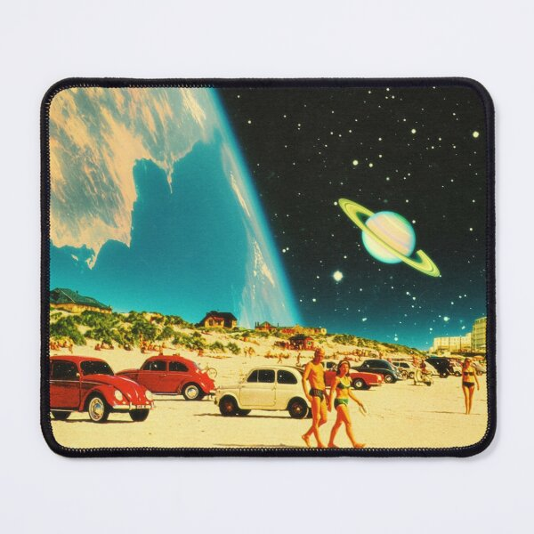 Space Beach Mouse Pad