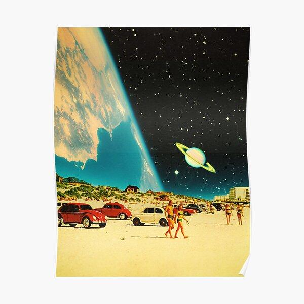 Space Beach Poster