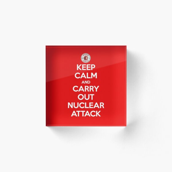 Keep Calm And Attack Acrylic Block