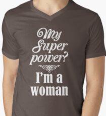 Super Woman Men's V-Neck T-Shirt
