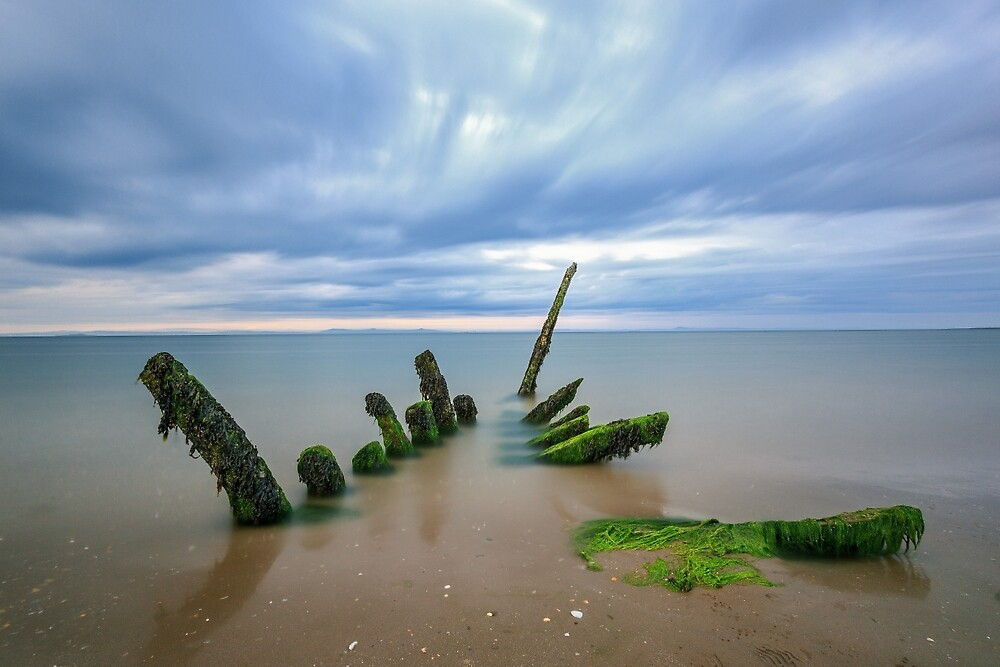Longniddry Shipwreck at Dusk, East Lothian by photographybyMG