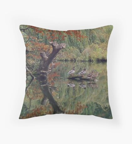 A Couple of Couples (Ducks at Witley)  Throw Pillow