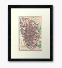 Vintage Map of Liverpool England (1890) Framed Print