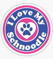 I LOVE MY SCHNOODLE DOG HEART I LOVE MY DOG PET PETS PUPPY STICKER STICKERS DECAL DECALS Sticker