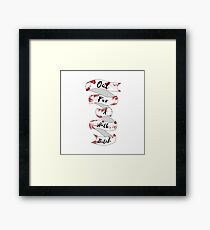 Spike Quote  Framed Print