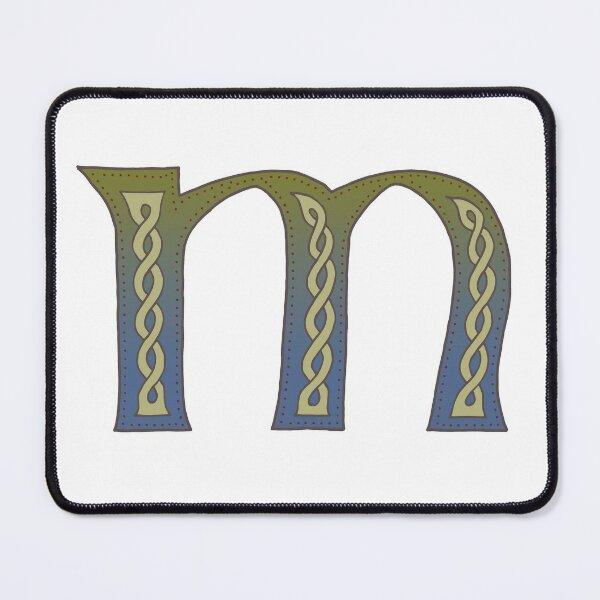 Celtic Knotwork Alphabet - Letter M Mouse Pad