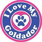 I LOVE MY GOLDADOR DOG HEART I LOVE MY DOG PET PETS PUPPY STICKER STICKERS DECAL DECALS by MyHandmadeSigns