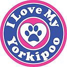 I LOVE MY YORKIPOO DOG HEART I LOVE MY DOG PET PETS PUPPY STICKER STICKERS DECAL DECALS by MyHandmadeSigns