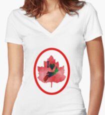 Nova Scotia Proud Women's Fitted V-Neck T-Shirt
