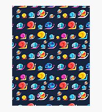 Graphic ornament colorful snail Photographic Print