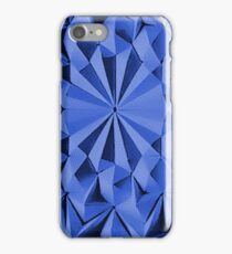 Blue fractals pattern, geometric theme iPhone Case/Skin
